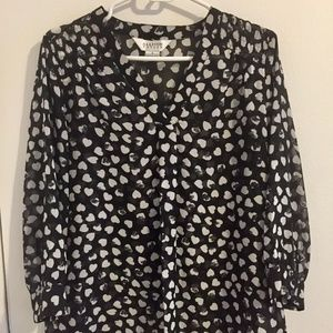 Cute Women Blouse with Hearts